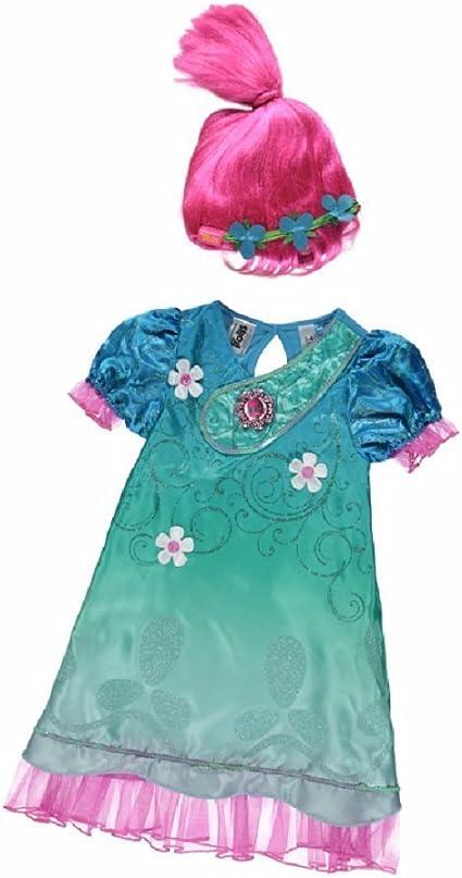 New George Dreamworks Trolls Poppy Fancy Dress Costume Outfit W ...