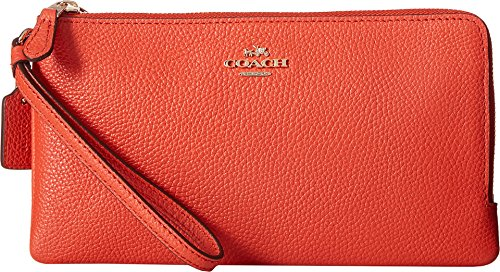 coach-womens-polished-pebbled-double-zip-wallet-li-deep-coral-wallets