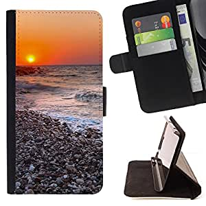 DEVIL CASE - FOR Samsung Galaxy S5 V SM-G900 - Sunset Beautiful Nature 116 - Style PU Leather Case Wallet Flip Stand Flap Closure Cover
