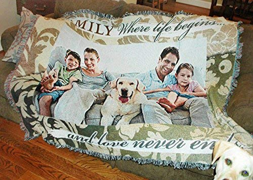 Pure Country Weavers Custom Photo Throw Blanket 100% Cotton (54X70H) by Pure Country Weavers (Image #1)