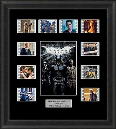 The Dark Knight Rises Back Light Backlit Limited Edition Film Cells Genuine 35mm Framed Film Cell Memorabilia Movie Art For Cinema Fans Collectors 5 Volt Usb Powered Led Backlight