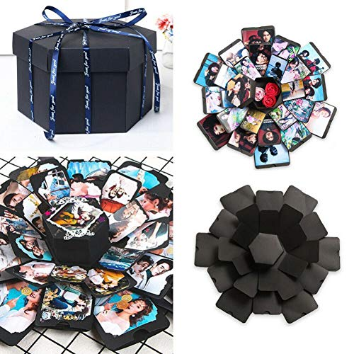 Escolourful Explosion Gift Box Creative DIY Handmade Photo Album Scrapbooking Albums Gift Box for Birthday Party, Valentine's Day, Mother's Day, Wedding, Christmas and -