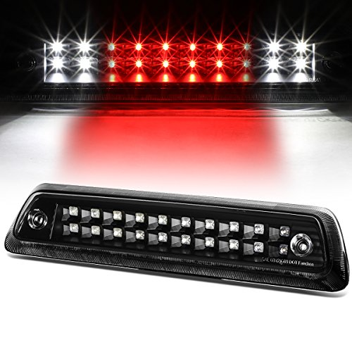 For Ford F-150 / Lincoln Mark LT High Mount Dual Row LED 3rd Brake/Cargo Light (Black Housing Clear Lens)
