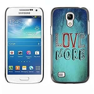 Paccase / Dura PC Caso Funda Carcasa de Protección para - BIBLE Love More - Samsung Galaxy S4 Mini i9190 MINI VERSION!