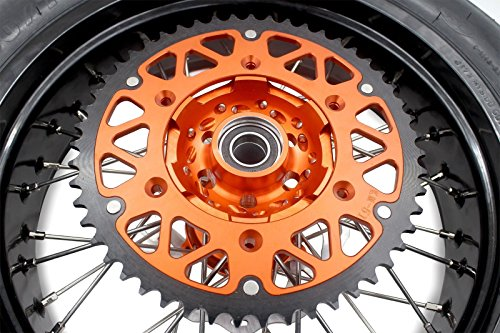 KKE KTM SUPERMOTO WHEELS RIMS SET KIT & TIRE EXC SX XCW XCF 125 250 350 530 3.5/5.0 SUPERMOTO WHEEL SET WITH TIRE & DISC by KKE (Image #3)