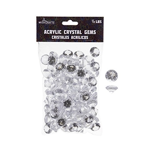 mini glass gems clear - 9