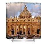 Pixels Shower Curtain (74'' x 71'') ''St. Peters Basilica''