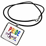 Best Pride Necklaces With Rectangles - 3dRose Doreen Erhardt Rainbow - Pride and Spirit Review