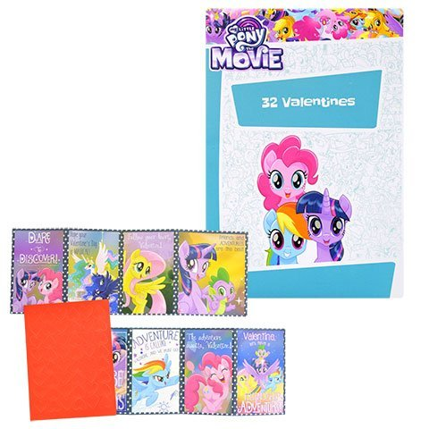 Valentine's Day Cards My Little Pony Licensed Cartoon Character , 32-ct.