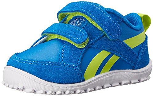 Price comparison product image Reebok Ventureflex Chase Shoe,  Handy Blue / Semi Solar Yellow / White,  2 M US Infant
