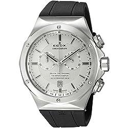 Edox Men's 10107 3CA AIN Delfin Analog Display Swiss Quartz Black Watch