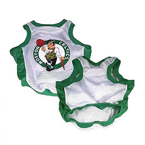 NBA Boston Celtics Basketball Dog Jersey, Small