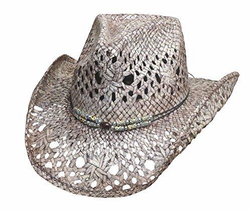 Montecarlo Bullhide Hats GONE CRAZY Toyo Straw Cowboy Western Hat (Toyo Straw Hat)