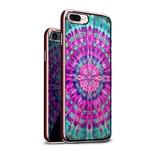 FLORAL TIE DYE DESIGN CHROME SERIES CASE IN ROSE GOLD FOR...