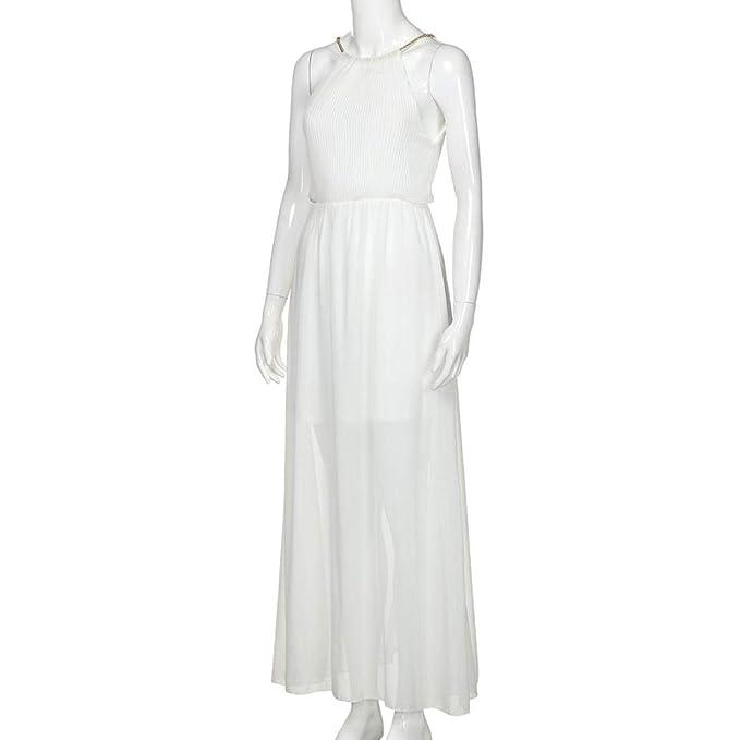 Vestidos Largos De Mujer Elegantes, Moda Diario Sin Mangas Casual Suelto Ahuecar Color Sólido Faldas: Amazon.es: Ropa y accesorios