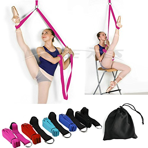 Leg Stretch Band - To Improve Leg Stretching - Easy Install on Door - Perfect Home Equipment For Ballet, Dance And Gymnastic Exercise Flexibility Stretching Strap Foot Stretcher Bands (pink) -