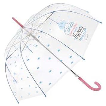 Paraguas largo transparente Mr.Wonderful Camina Rosa: Amazon.es: Equipaje