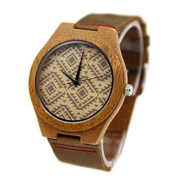 Shou&bz Reloj de mujer nuevo/todo de madera/bambú/madera reloj/pulsera