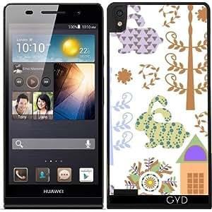 Funda para Huawei Ascend P6 - Bunnyes Patrón by Luizavictorya72
