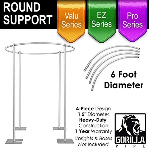 Event Decor Direct 6FT - Round Four Post Drape Support for 4-Post Canopy - 4 -