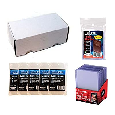 Ultra Pro Card Collector Supplies Starter Kit Bundle: Top Loaders, Sleeves, Mini Snap Holders & 400 Count Storage Box: Toys & Games