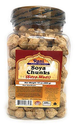 - Rani Soya Chunks (High Protien) 14oz (400g) Reusable PET Jar Packing