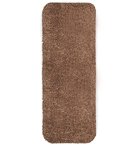 Plow & Hearth Mud Rug Runner, Absorbent Dirt Trapping Machine Washable, Non Slip Indoor Mat, 29 W x 58 L - Brown