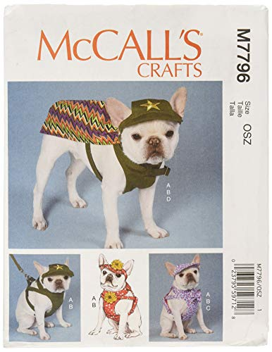 McCall's Patterns M7796OSZ Pet Harness and Hat Sewing Pattern, Sizes S-XL]()