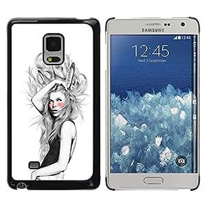 // PHONE CASE GIFT // Duro Estuche protector PC Cáscara Plástico Carcasa Funda Hard Protective Case for Samsung Galaxy Mega 5.8 / Orejas de conejo Chica /