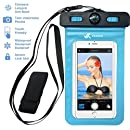 ⚡ [ PREMIUM QUALITY ] Universal Waterproof Phone Holder with ARM BAND, COMPASS & LANYARD - Best Water Proof, Dustproof, Snowproof & Shockproof Pouch Bag Case for Apple iPhone, Android & All SmartPhone