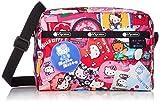 LeSportsac Hello Kitty Collector Exclusive Daniella Crossbody Bag, Style 2434/Color G631, Hello Kitty Design Zipper Pull