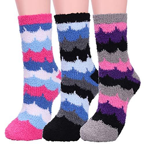Women Soft Warm Fuzzy Socks Girls Ladies Cute Cozy Fluffy Lightweight Winter Slipper Sock Gift