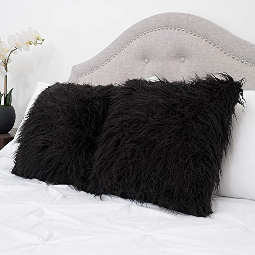 Sweet Home Collection Mongolian Long Hair Decorative Throw P