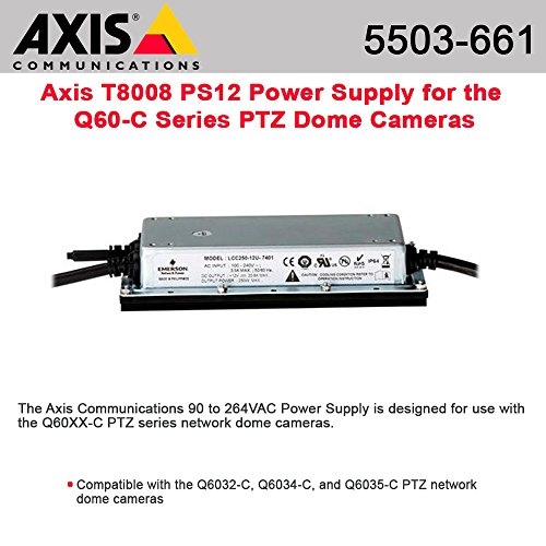 Axis, T8008 Ps12 Power Adapter Ac 115-230 V 85 Watt ''Product Category: Ups/Power Devices/Power Adapters (Other)'' by AXIS COMMUNICATION INC. (Image #1)