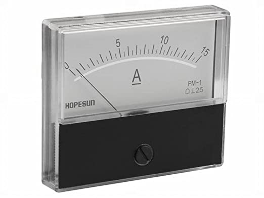 70/mm de largeur x 60/mm de hauteur DC Panel meters /& Multimeters 139951/courant analogique Panel Meter 15/Amp