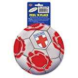 Beistle 12-Pack Peel 'N Place Stickers, 5-1/4-Inch, England