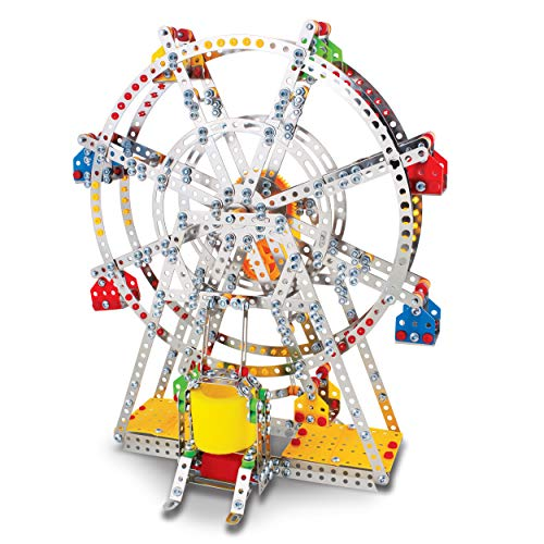 Erector Sets For Adults (IQ Toys Ferris Wheel Building Model with Metal Beams and Screws Lights & Music 954)