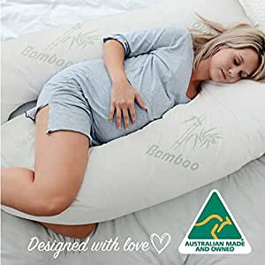 Australian Made Bamboo Pregnancy/Maternity / Nursing Pillow Body Feeding Support (Bamboo Pillowcase Included)