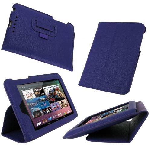 rooCASE Ultra-Slim (Purple) Vegan Leather Folio Case for Google Nexus 7 Tablet (Built-in sleep / wake feature)