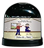 Personalized Friendly Folks Cartoon Caricature Snow Globe Gift: Square Dance Couple