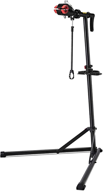 unisky Bike Repair Stand Home Portable Bicycle Mechanics Maintenance Workstand Foldable Height Adjustable with Quick Release