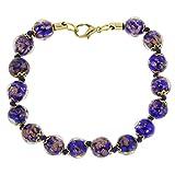 GlassOfVenice Murano Glass Sommerso Bracelet - Navy Blue