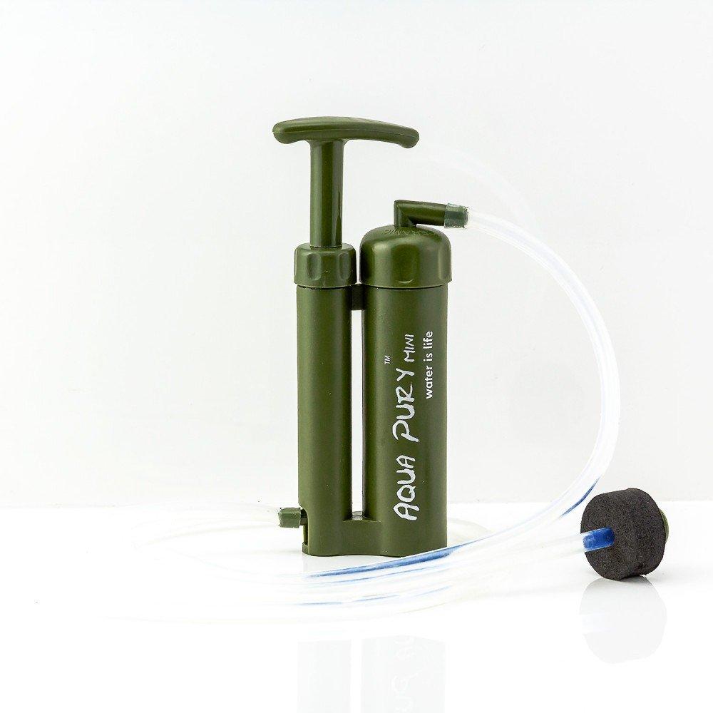 Aqua Pury Mini, nuestro filtro de preparación de agua más pequeño para exteriores, supervivencia y acampadas, ideal para situaciones de emergencia 2joy GmbH