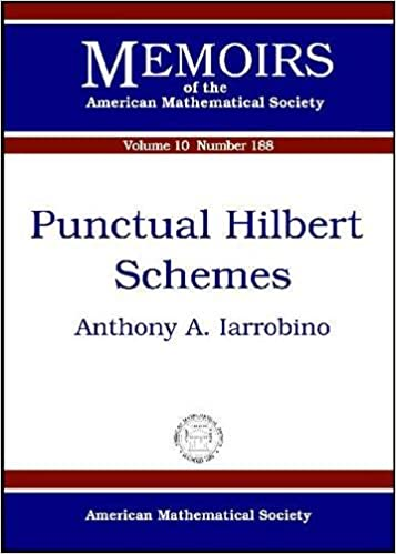 Fuld tekstbog download Punctual Hilbert Schemes (Memoirs of the American Mathematical Society) DJVU