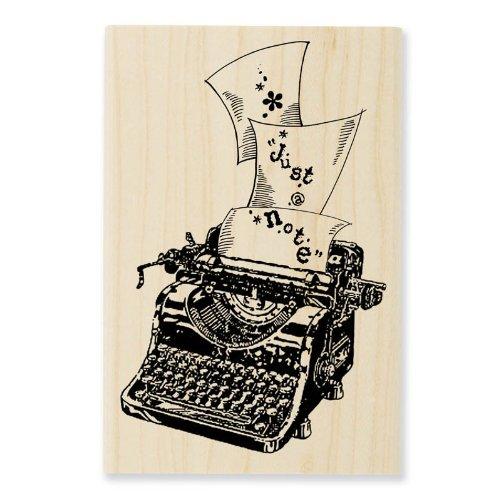 STAMPENDOUS Wood Handle Rubber Stamp Typewriter Note Image