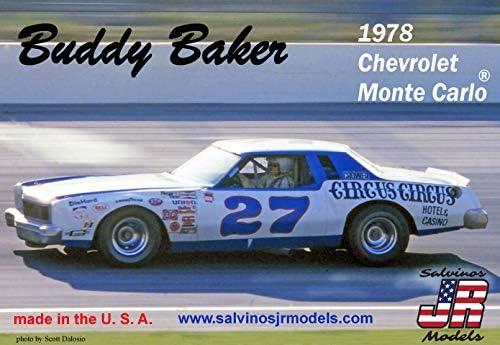 サルビノス J・R モデル 1/25 NASCAR 1978 シボレー モンテカルロ バッディー・ベイカー #27 プラモデル