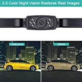 """LeeKooLuu HD 720P Wireless Backup Camera System for Cars,Trucks,Minivans,SUVs with 7"""" LCD Monitor Rear/Front View System IP68 Waterproof Night Vision Guide Lines ON/Off for Continuous/Reversing Use"""