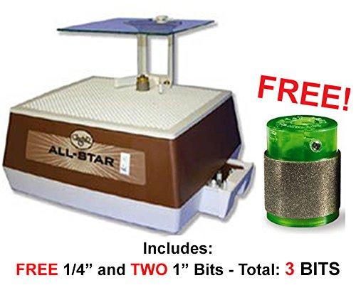 Glastar All Star G8 Glass Grinder w/ FREE ADDITIONAL 1'' Standard Gel Bit