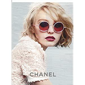 MAGAZINE PAPER ADVERTISEMENT With Lily Rose Depp For Chanel 2015 Sunglasses
