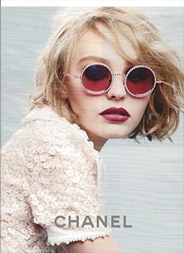 MAGAZINE PAPER ADVERTISEMENT With Lily Rose Depp For Chanel 2015 - Chanel Sunglasses